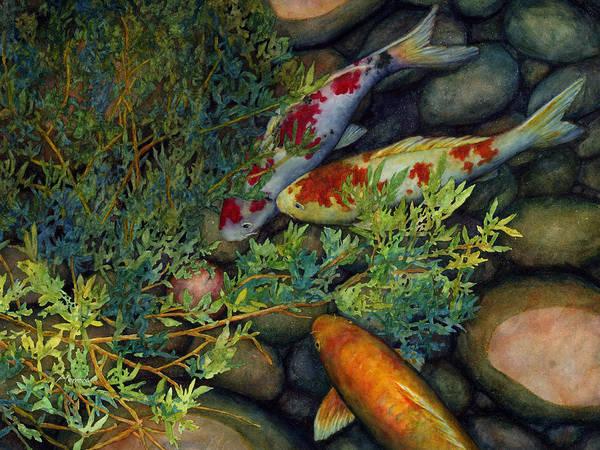 Water Lily Painting - Hidden Treasure by Hailey E Herrera