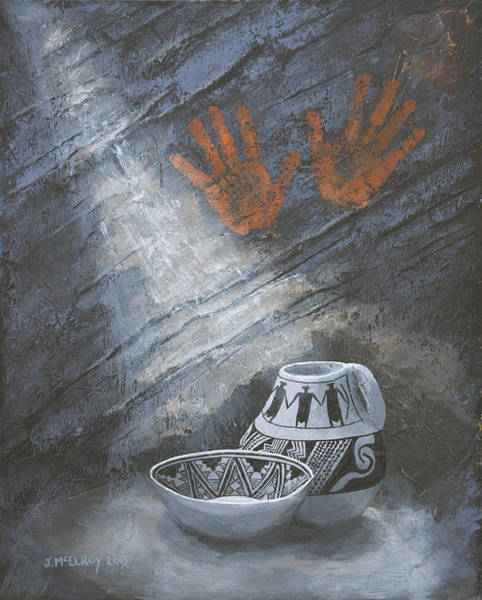 Anasazi Painting - Hidden Treasure by Jerry McElroy