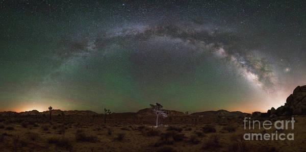 Strobist Wall Art - Photograph - Hidden Valley Milky Way Pano by Michael Ver Sprill