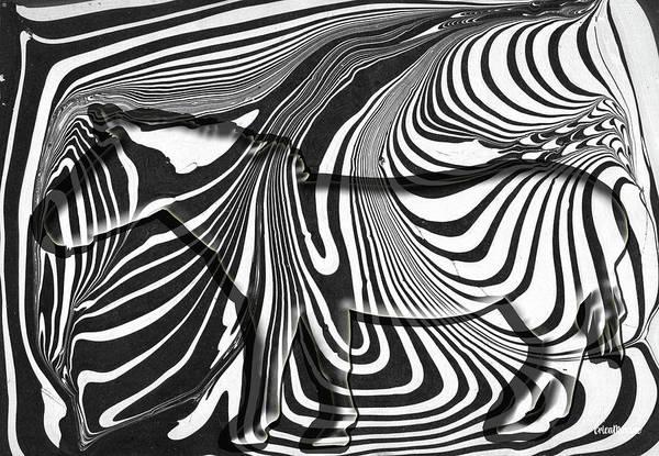 Digital Art - Hidden Zebra by Ericamaxine Price