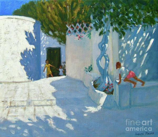 Seek Painting - Hide And Seek, Mykonos by Andrew Macara