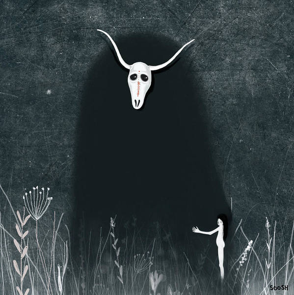 Forest Spirit Wall Art - Digital Art - Hide My Soul by Soosh