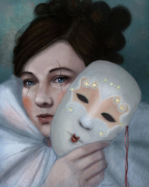 Digital Art - Hiding Behind Masks by Angela Murdock