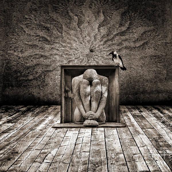Emotive Digital Art - Hiding by Jacky Gerritsen