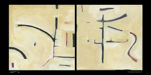 Painting - Hierographis Diptych 0304 by Tim Nyberg