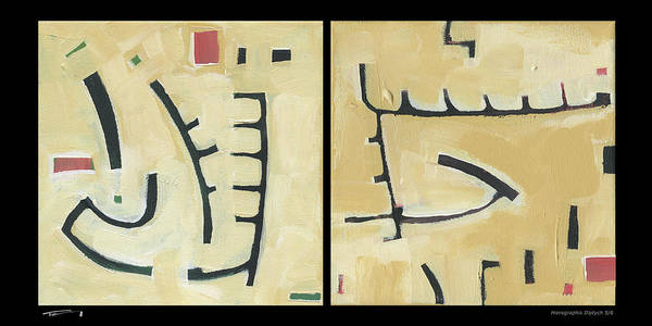 Painting - Hierographis Diptych 0605 by Tim Nyberg