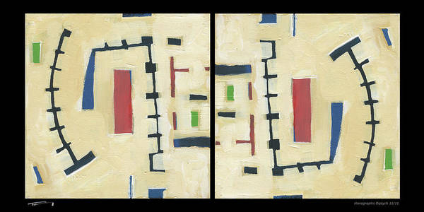 Painting - Hierographis Diptych 1111 by Tim Nyberg