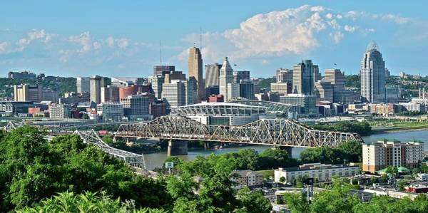 Wall Art - Photograph - High Above Cincinnati In Panoramic Form by Frozen in Time Fine Art Photography