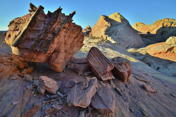 Photograph - High Above Wash 5 In Valley Of Fire Sp by Ray Mathis