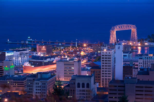 Lake Superior Wall Art - Photograph - High Angle View Of A City, Canal Park by Panoramic Images