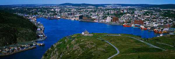 Newfoundland Photograph - High Angle View Of A City, Signal Hill by Panoramic Images