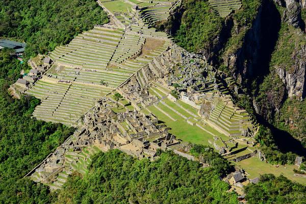 Wall Art - Photograph - High Angle View Of Machu Picchu by Oscar Gutierrez