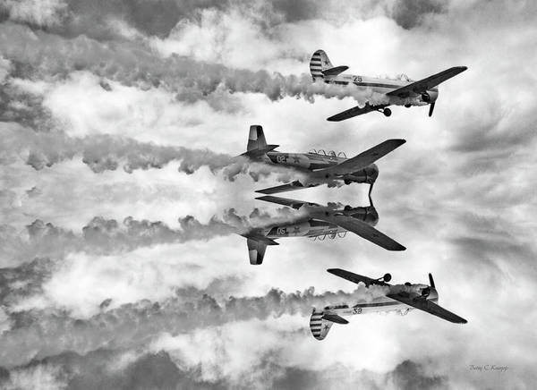 Vintage Airplane Photograph - High by Betsy Knapp