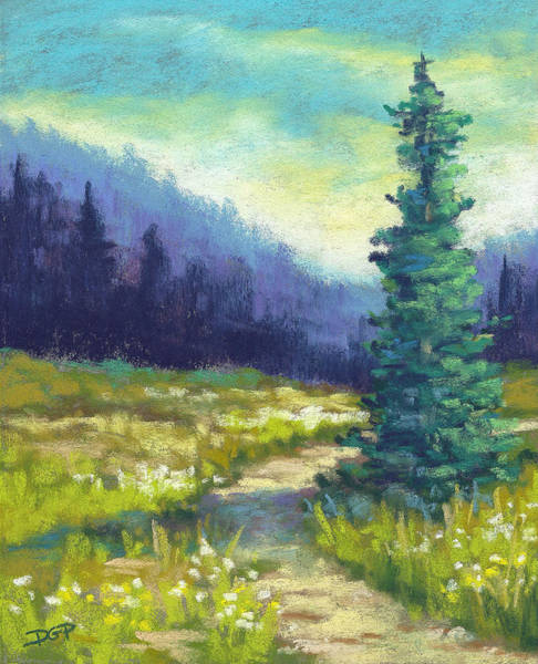 Wall Art - Painting - High Country Trail by David G Paul