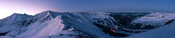 Snowshoe Photograph - High Country Twilight Panorama by Mike Berenson
