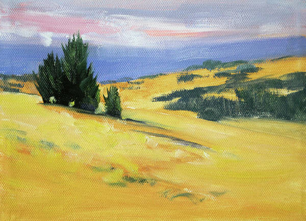 Wall Art - Painting - High Desert Horizon by Nancy Merkle