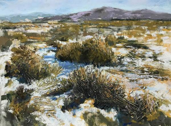 Pastel - High Desert Winter by Dennis Sullivan