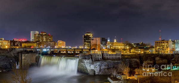 Photograph - High Falls At Night by Rod Best