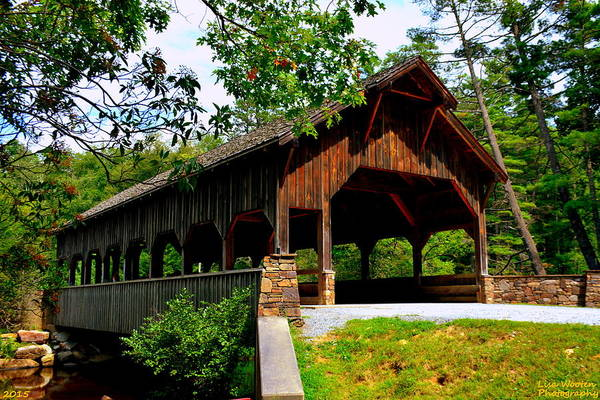 High Falls Covered Bridge Art Print