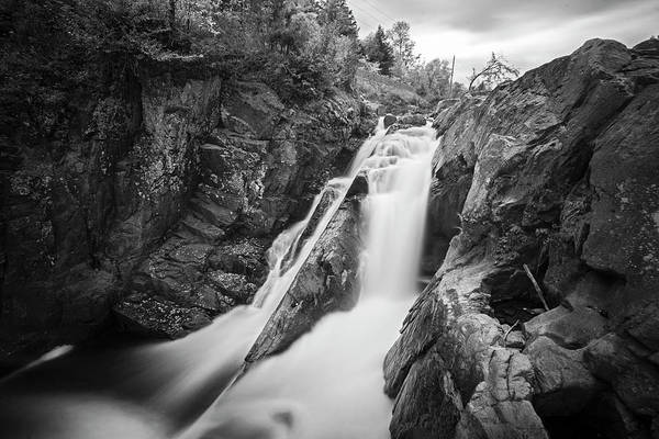Photograph - High Falls Gorge Wilmington Ny New York First Waterfall Black And White by Toby McGuire