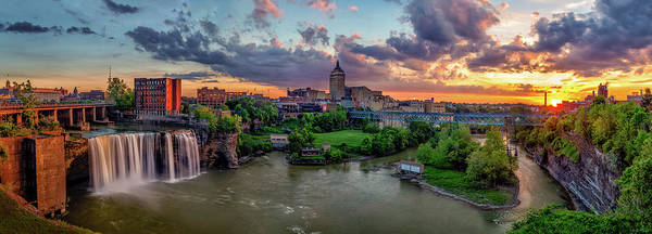 Photograph - High Falls Panorama by Mark Papke