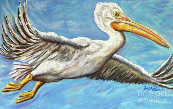 Gulf Shores Alabama Painting - High Flyer by JoAnn Wheeler