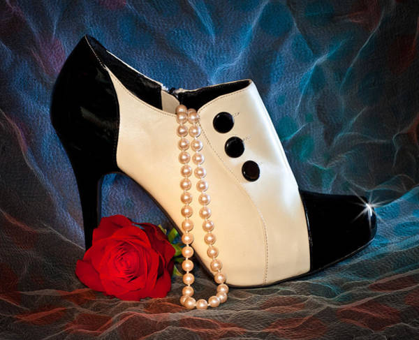 Photograph - High Heel Spat Bootie Shoe by Patti Deters