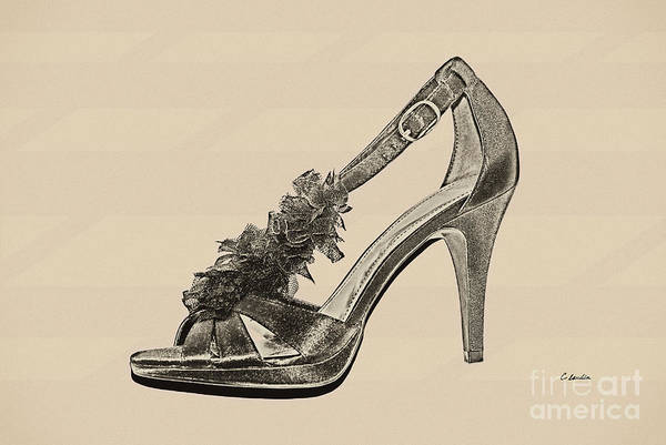 High Heels Drawing - High Heels - Black by Claudia Ellis