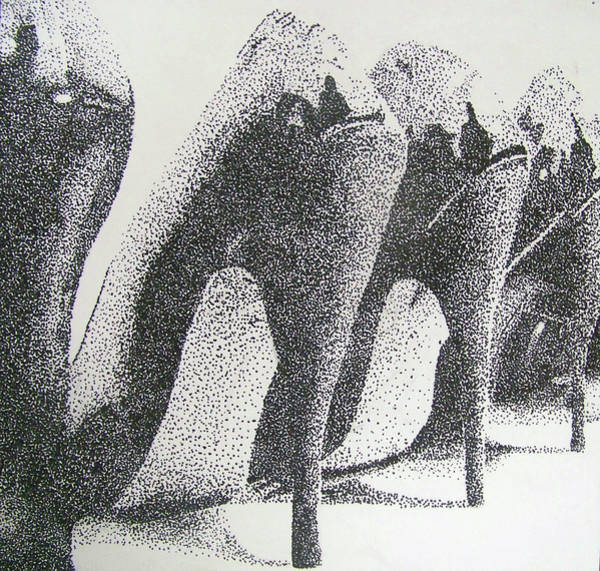 High Heels Drawing - High Heels  by Hannah Golden