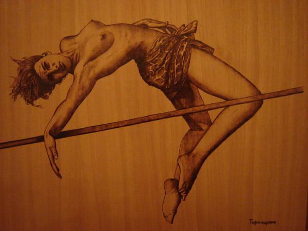 High Jump Painting - High Jump  by Katerina Tsibouraki