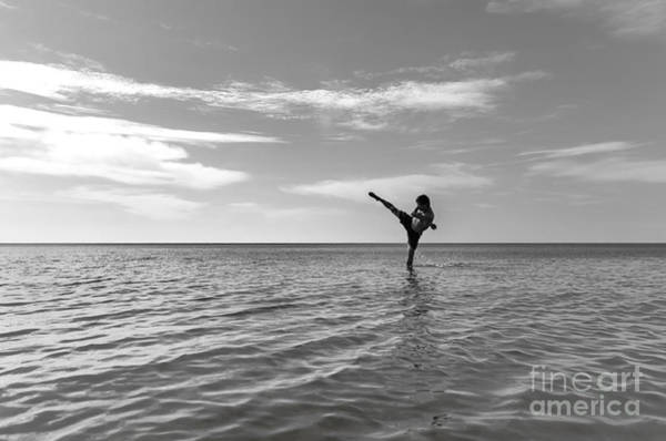 Kickboxing Photograph - High Kick by Yoko Takei Do