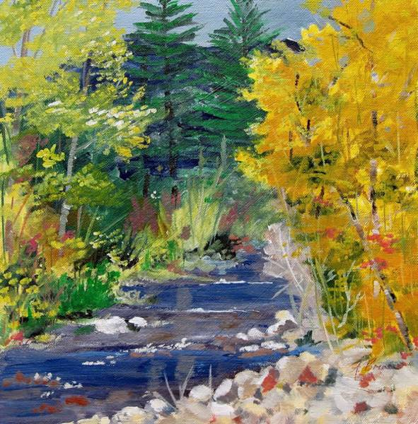 Painting - High Mountain Creek  by Adele Bower