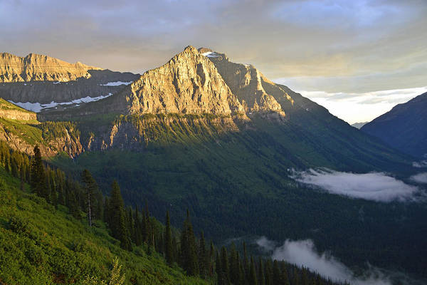 Photograph - High Mountain Sunset In Glacier National Park by Bruce Gourley