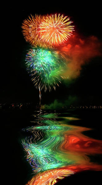 Photograph - High On Fireworks by Wes and Dotty Weber