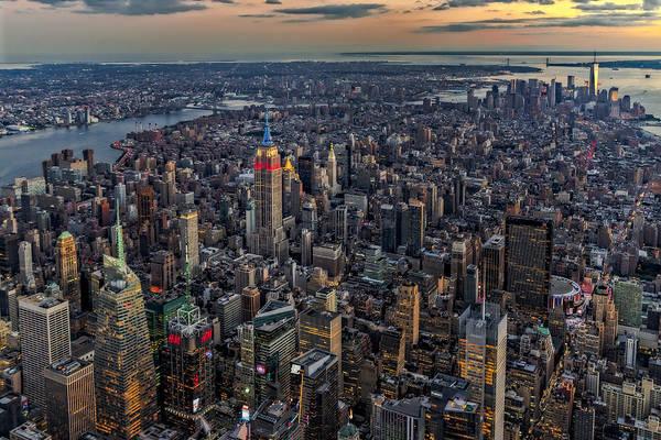 Photograph - High Over Manhattan by Susan Candelario