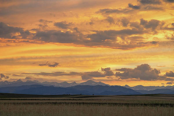 Photograph - High Plains Meet The Rocky Mountains At Sunset by James BO Insogna