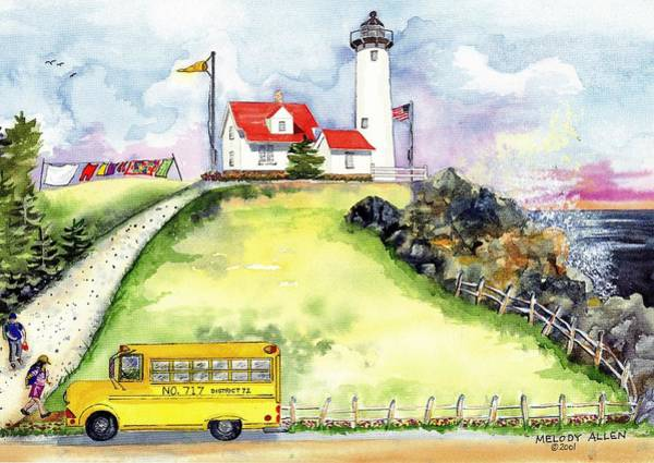 Wall Art - Painting - High Point Light by Melody Allen