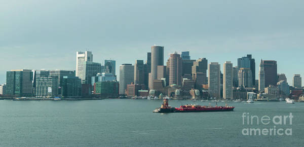 Photograph - High Resolution Panoramic Of Downtown Boston During The Day by PorqueNo Studios