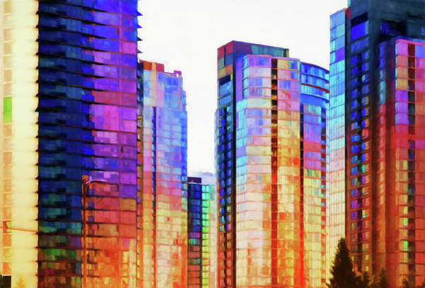 Vancouver Skyline Digital Art - High Rise Abstract by Terry Davis