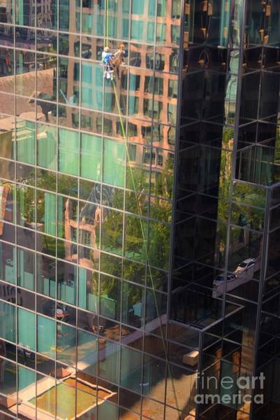 Photograph - High Rise Window Cleaner by David Birchall