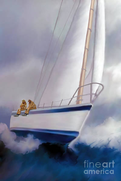 Wall Art - Painting - High Roller Sailing by Corey Ford