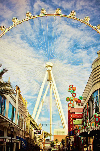 Photograph - High Roller Wheel, Las Vegas by Tatiana Travelways