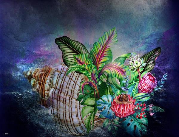 Banana Leaf Mixed Media - High Seas by G Berry