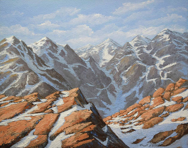 Painting - High Sierra In Winter by Frank Wilson
