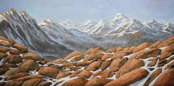 Painting - High Sierra Nevada Mountains by Frank Wilson