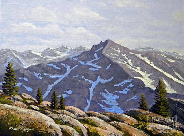 Wall Art - Painting - High Sierras Study by Frank Wilson