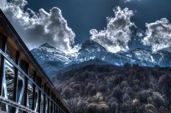 Photograph - High Snow Peaked Mountains by John Williams