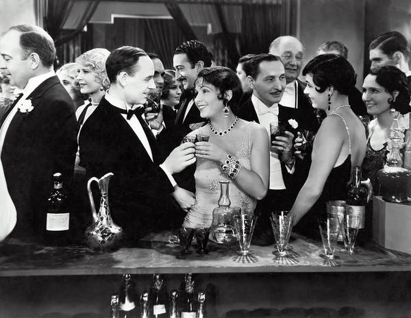 Drunk Photograph - High Society Cocktail Party - End Of Prohibition 1933 by Daniel Hagerman