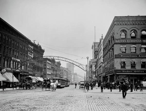 Yesteryear Photograph - High Street - Columbus Ohio 1903 by Mountain Dreams