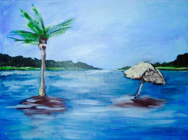 Wrightsville Beach Wall Art - Painting - High Tide by Anne Seay